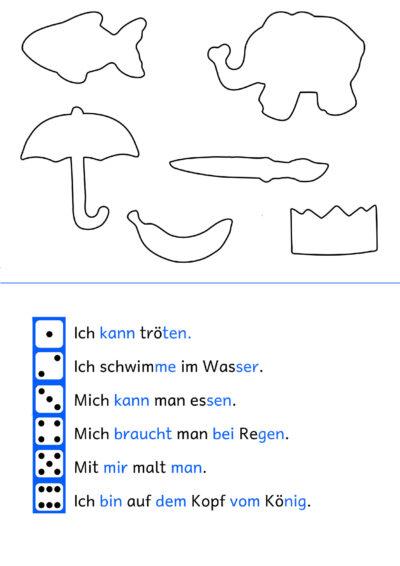 """Lesen und Schreiben mit dem Spiel """"Blinde Kuh"""""""