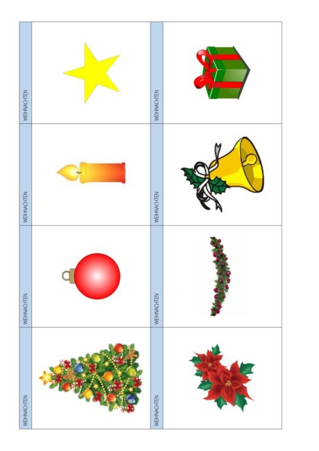 Lerntrainer: Wortschatz-Weihnachten