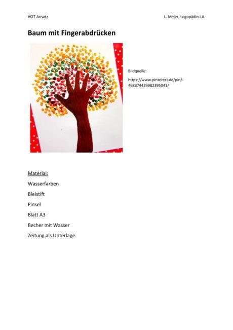 HOT: Baum mit Fingerabdrücken