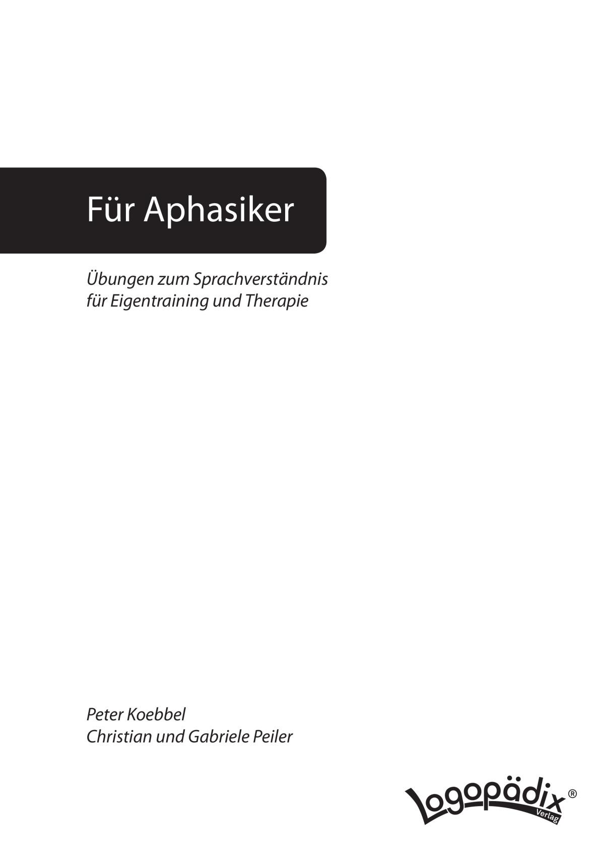 Therapiematerial zum Thema Lesesinnverständnis - Therapiematerial ...