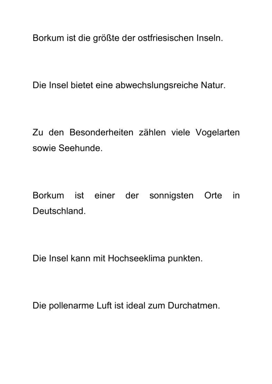 Sätze zum Thema Insel Borkum