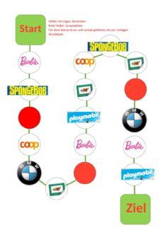 Brands und Logos Würfelspiel