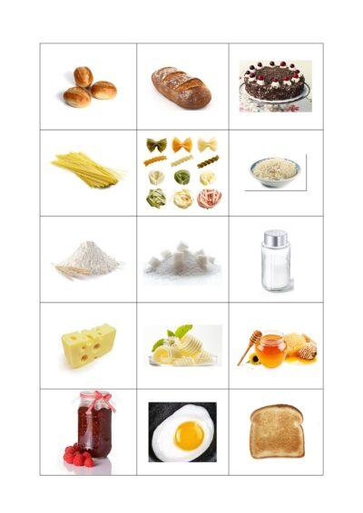 Bildkarten im Themenfeld Nahrungsmittel