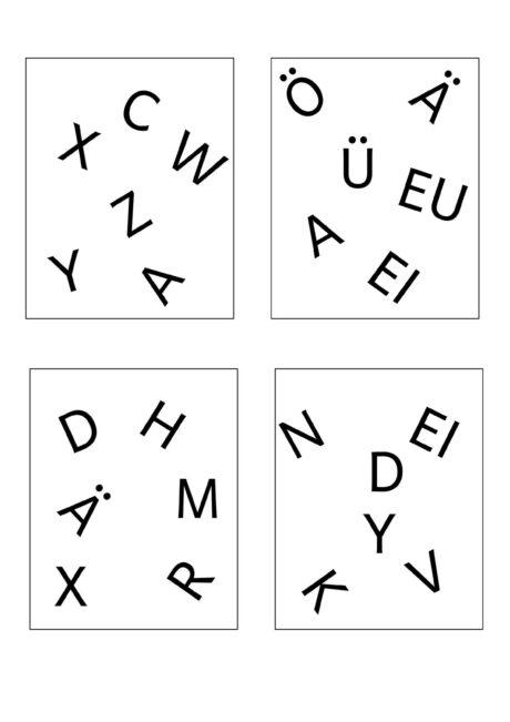 Buchstaben- und Silben-Dobble