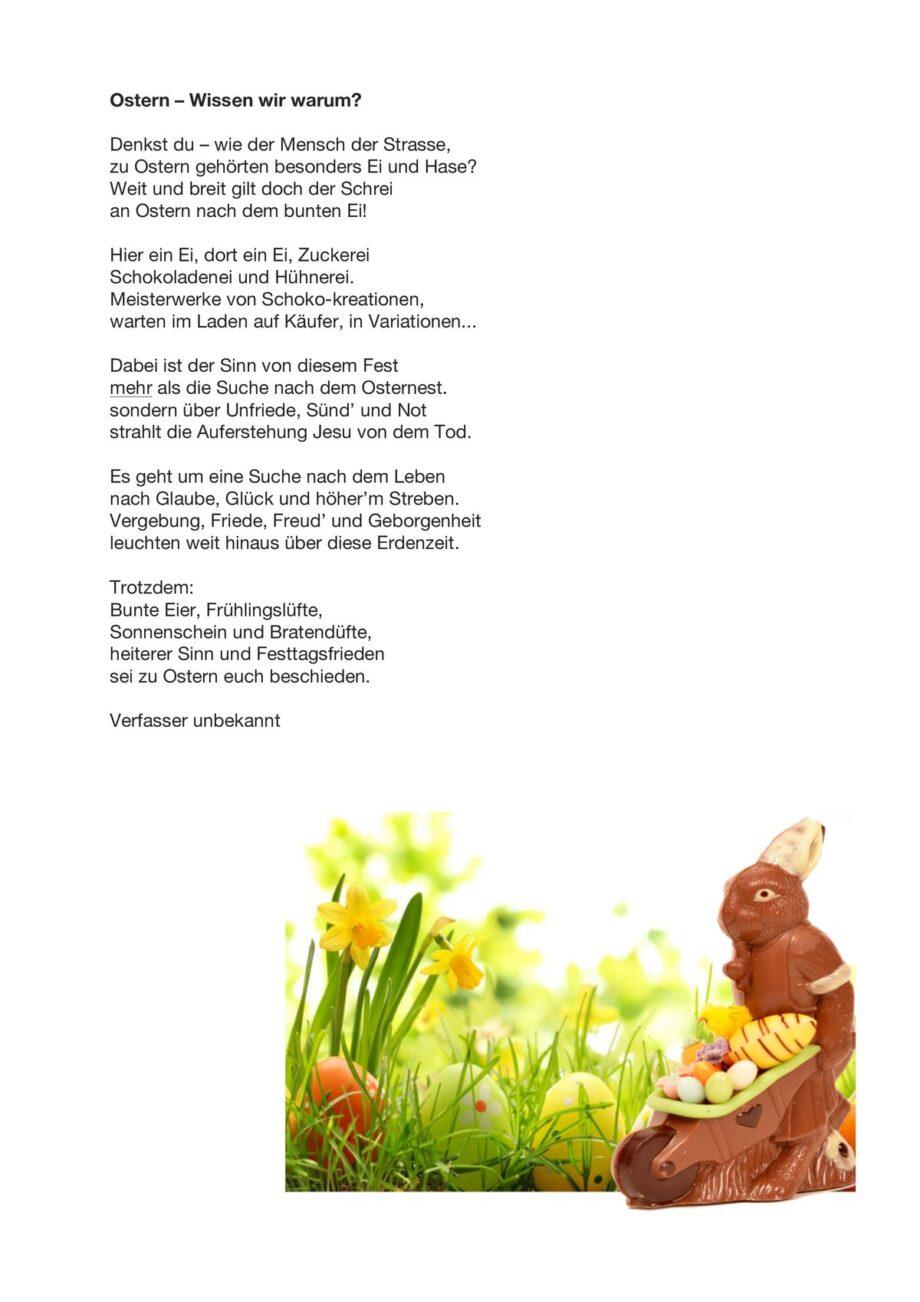 Gedicht zu Ostern
