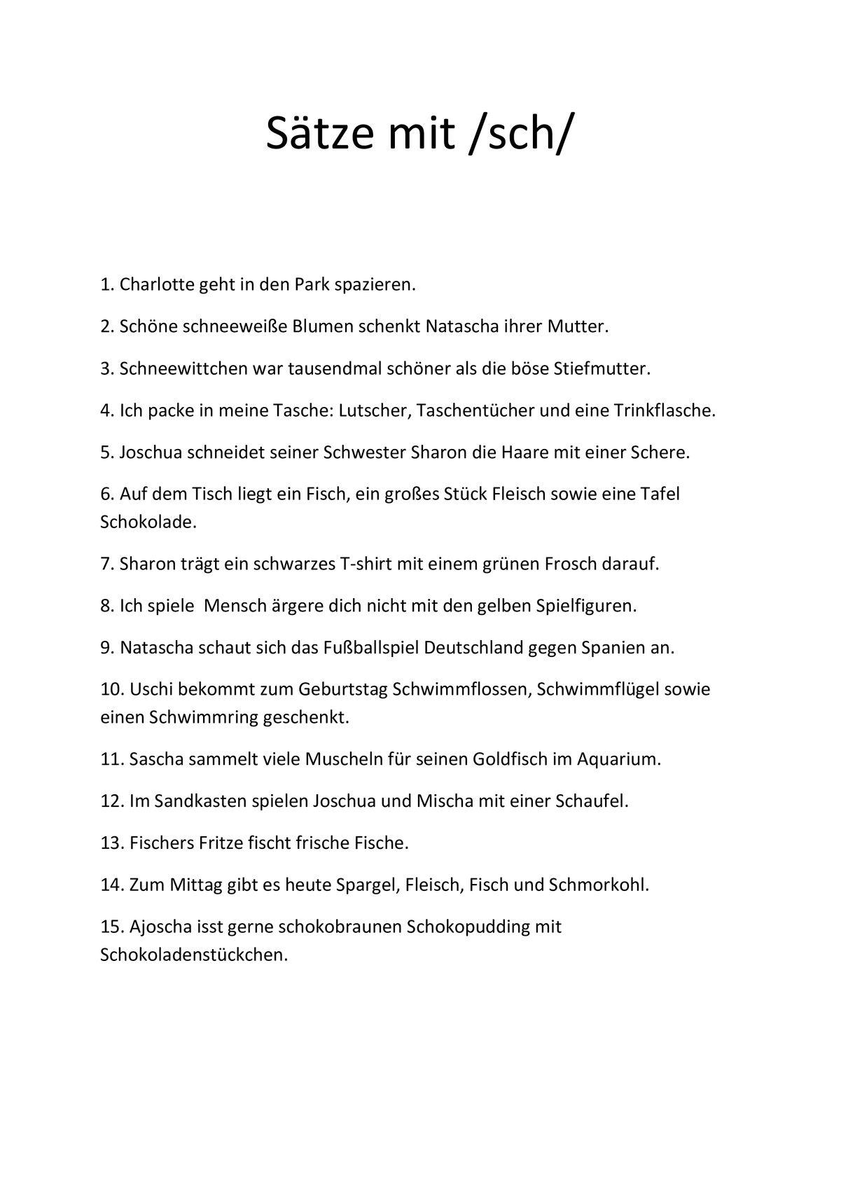Sammlungen mit Schetismus-Sätze - Dyslalie - madoo.net