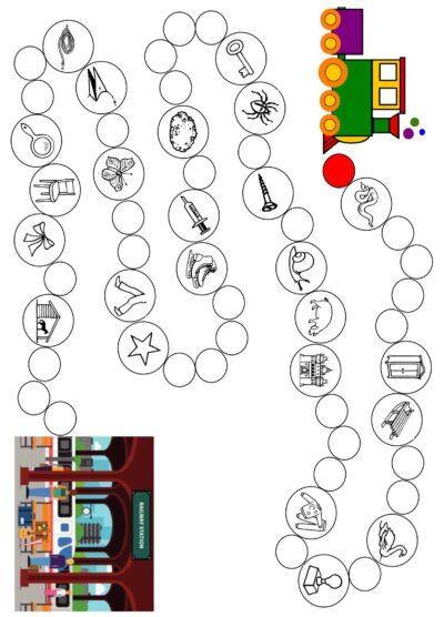 /sch/ in Konsonantenverbindungen – Spielplan