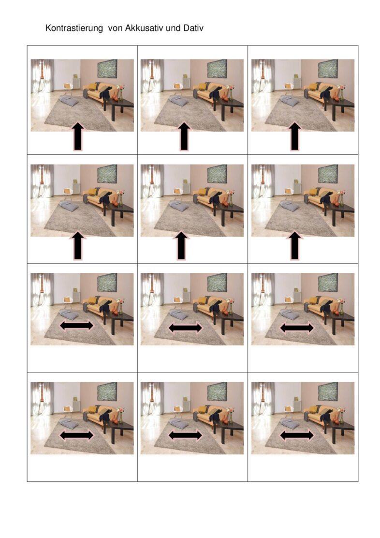 Bildkarten zur Kontrastierung von Akkusativ und Dativ