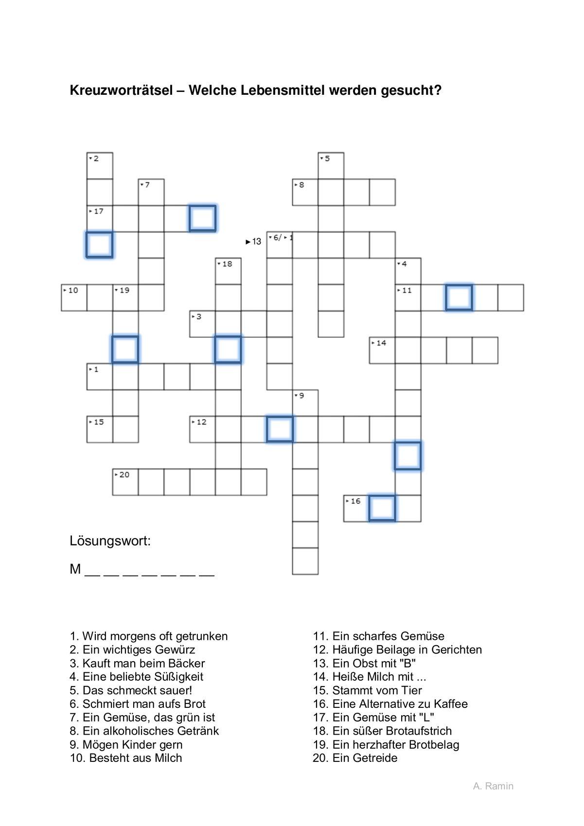 Alle Kreuzworträtsel
