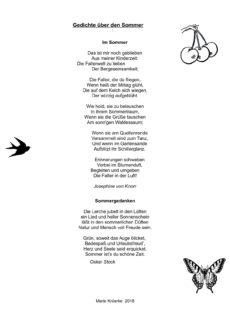 Sommer-Gedichte zum Vorlesen