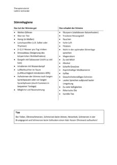 Handout zur Stimmhygiene