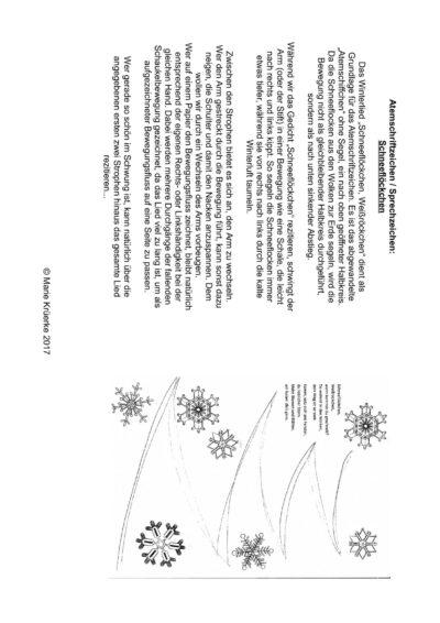 Atemschriftzeichen / Sprechzeichnen: Schneeflöckchen, Weißröckchen
