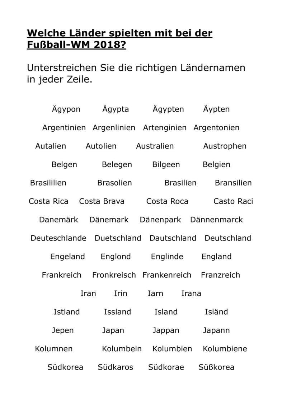 Welche Länder nahmen teil an der WM 2018