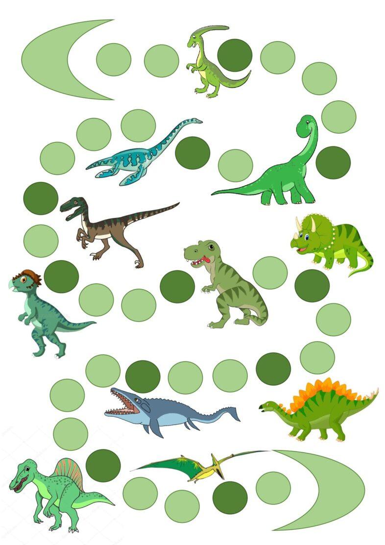 Dinosaurier-Spielfeld