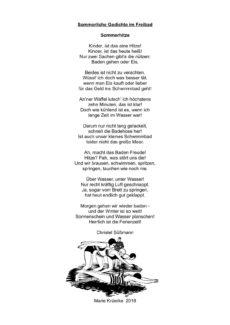 Im Freibad: Sommerliche Gedichte