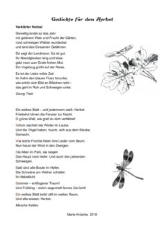 Gedichte für den Herbst