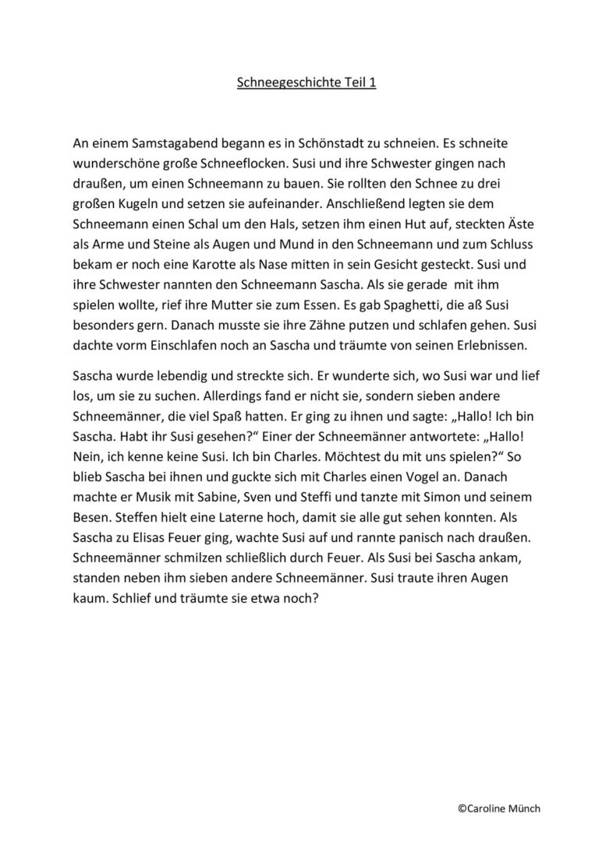 Geschichte zur Unterscheidung von /sch/ und /s, z/