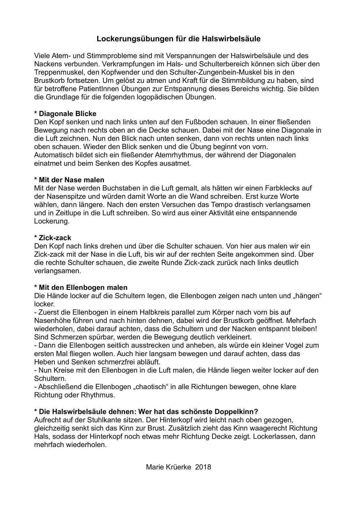 Schön Halswirbelsäule Zeitgenössisch - Physiologie Von Menschlichen ...
