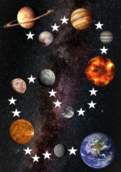 Planeten-Spielfeld