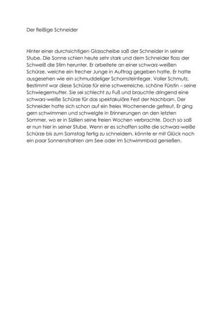Zischlaute-Text