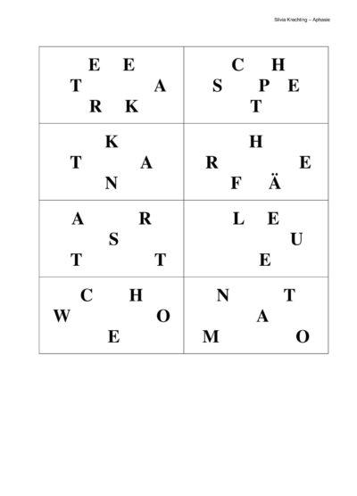 Erweiterung Wortfindung und Wortabruf zum Text 2 der NAT-Texte