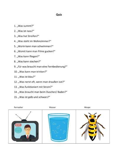 Quiz für die Laute [s, z] medial