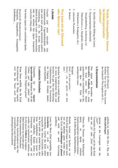 Flyer: Sprachförderndes Verhalten