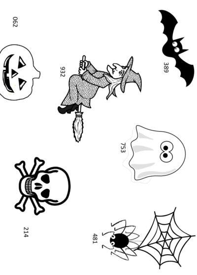 Merkfähigkeit von Zahlen zu Halloween