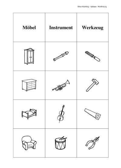 Aphasiematerial zur Wortfindung – Teil 2