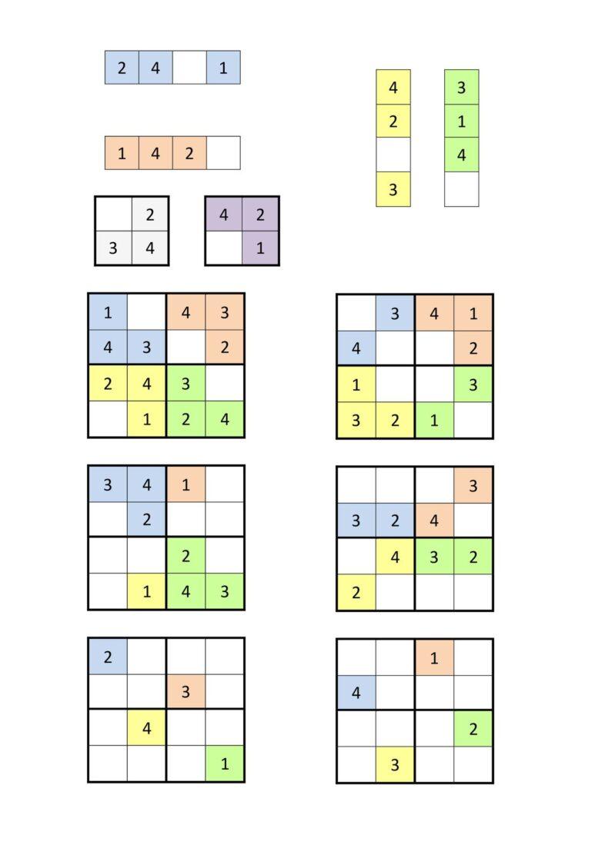 Sudoku Übung 4×4