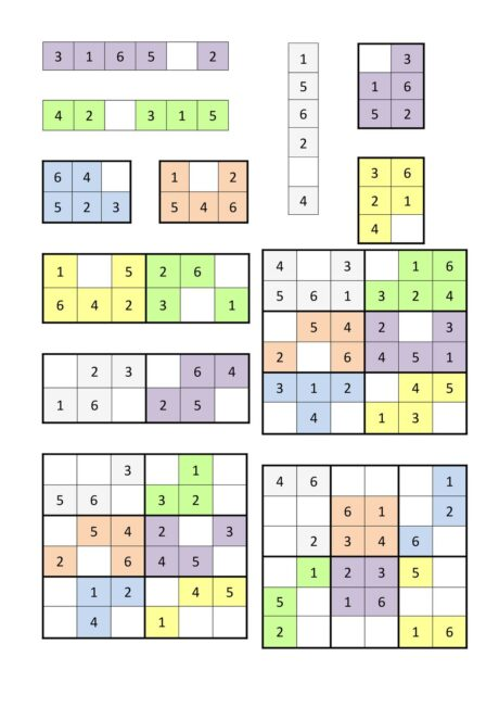 Sudoku Übung 6×6