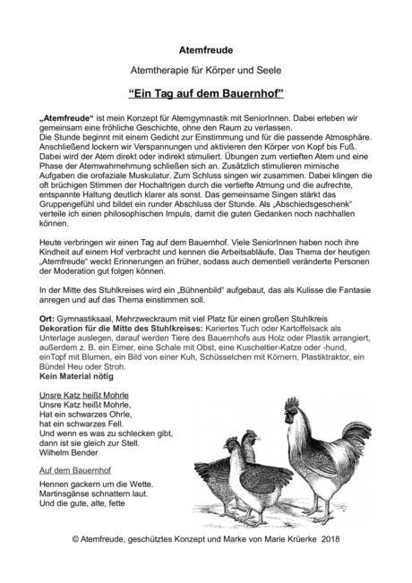 """Atemfreude """"Auf dem Bauernhof"""""""