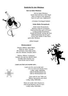Gedichte für den Nikolaus