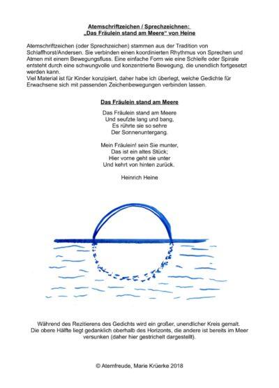 Atemschriftzeichen / Sprechzeichnen: Das Fräulein am Meer