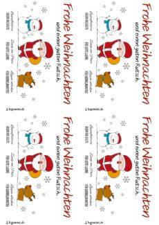Weihnachtskarte für Logopäd*innen