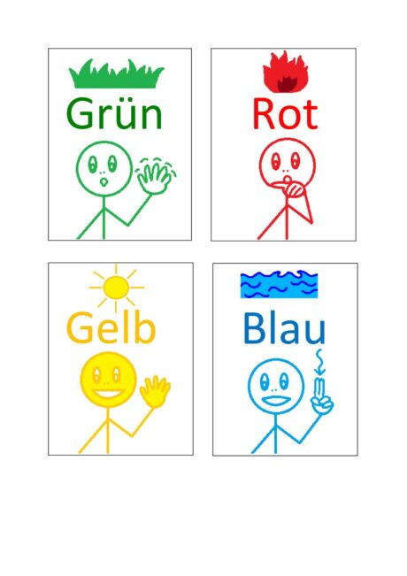 Assoziationskarten Farben