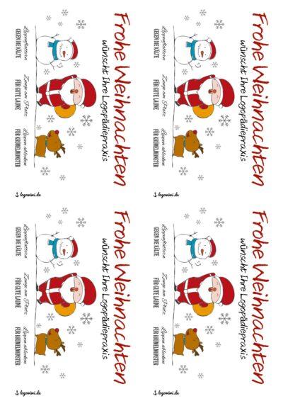 Weihnachtskarte für Praxen