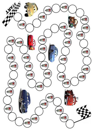 Spielplan Cars
