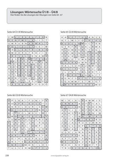 Für Aphasiker: Übungen zur Sprachproduktion- Lösungen