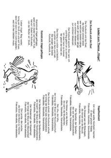 """Lieder zum Thema """"Vögel"""""""