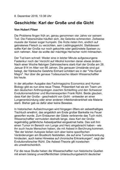 """Textarbeit """"Karl der Große"""""""