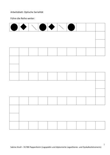 Führe die Reihe weiter (Formen, Symbole)