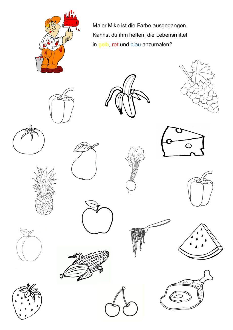 Grundfarben Lebensmittel