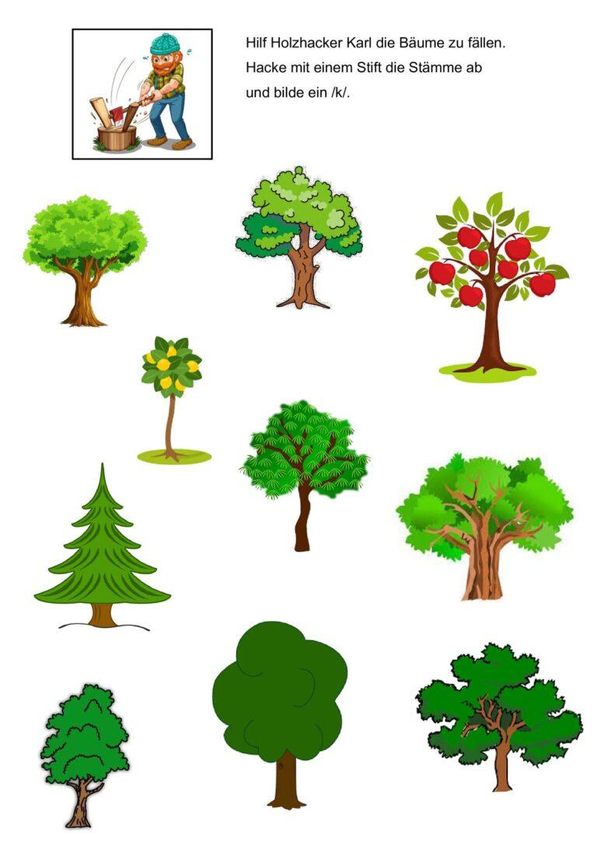 Lautebene /k/ Bäume fällen
