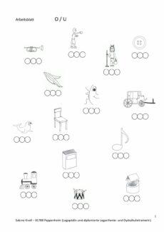O-U Lautidentifikation und Positionsbestimmung