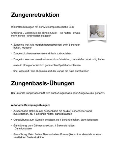 Zungenretraktion / – basisübungen