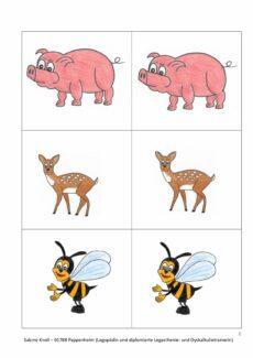 Kleine Übungssammlung mit Tieren