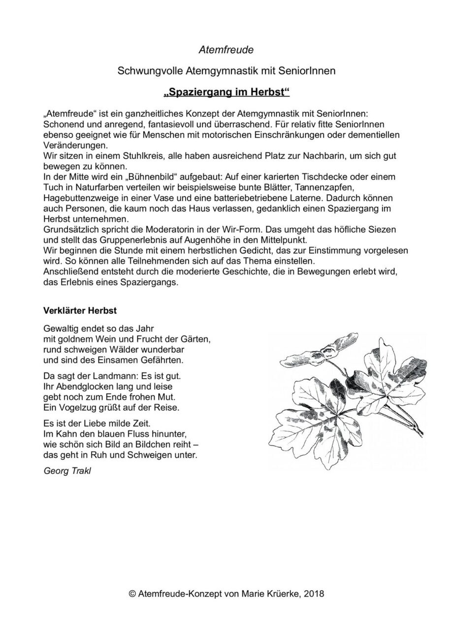 "Atemfreude ""Spaziergang im Herbst"""