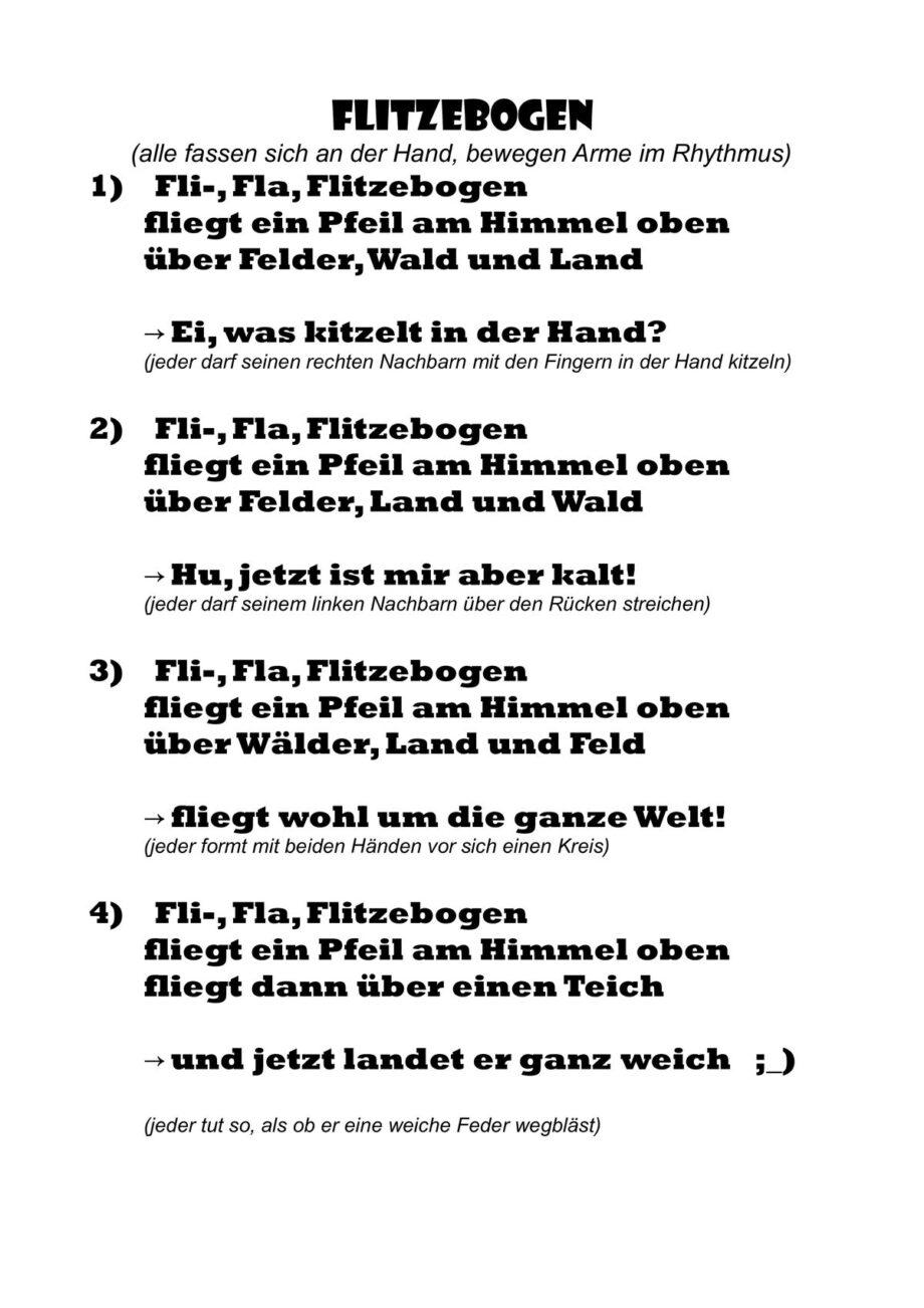 Flitzebogen-Reim