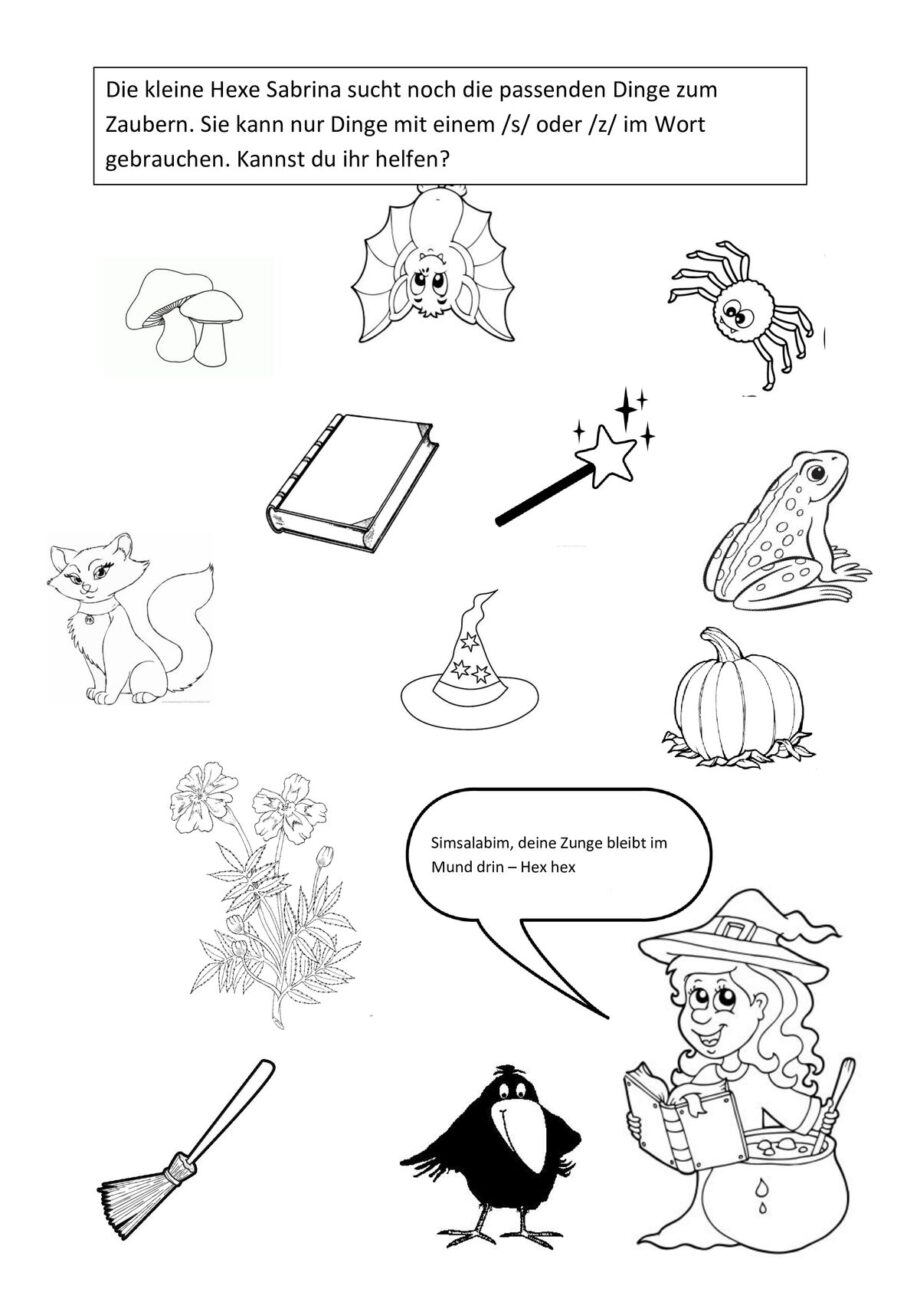 [s,z] – die kleine Hexe